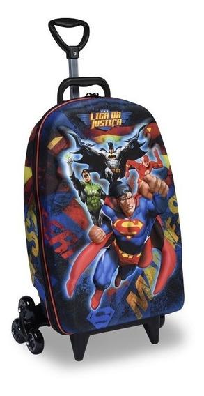Mochila E Lancheira Liga Da Justiça Superman 3d ( Max Toy )