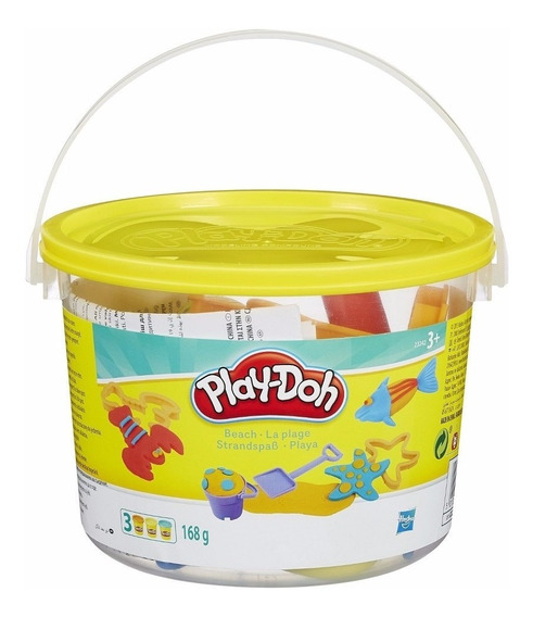 Massinha Play-doh - Mini Balde Praia Original - Hasbro