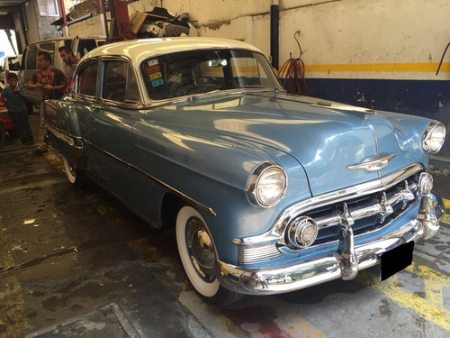 Chevrolet Bel Air 1953 Azul Mt 6 Cilindros