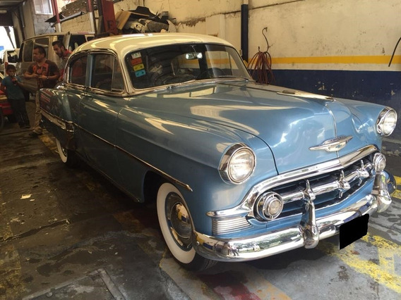 Chevrolet Bel Air 1953 Azul Mt 6 Cilindros