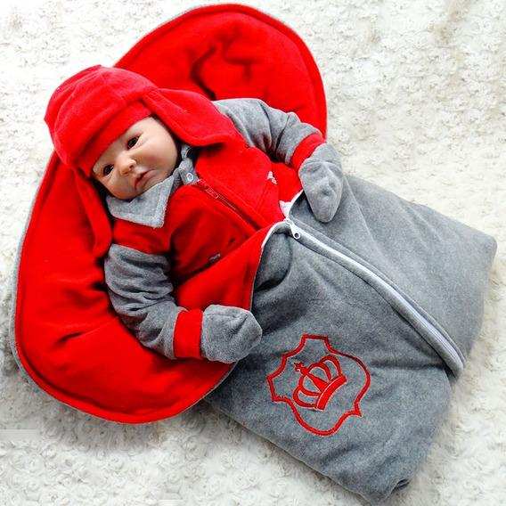 Saída De Maternidade Menino Feliz Gustavo Vermelho Plush
