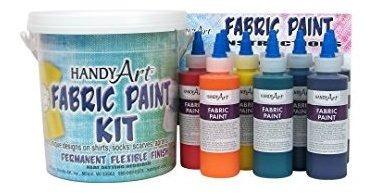 Handy Art 9 Color - Kit De Pintura De Tela De 4 Onzas