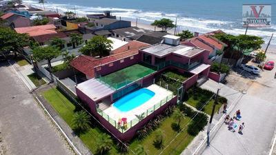 Casa Na Praia Com 3 Dormitórios À Venda, 250 M² Por R$ 700.000 - Balneário Riviera - Matinhos/pr - Ca0475