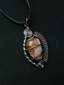 Colar Cordão Pedra Natural Quartzo Hippie Cristal Amuleto