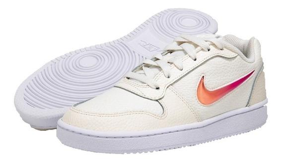 Zapatillas Urbanas Nike Mujer Blanco Crema Rosa Fade Premium