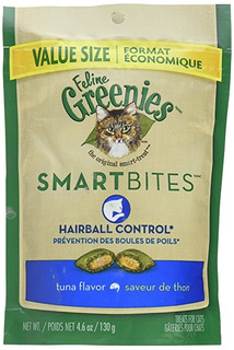 Tuna Feline Greenies Smartbites Control Hairball (4,6 Oz)