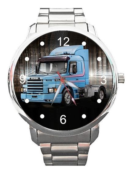 Relógio Tema Scania 113h Caminhão Carga V8 Streamline Top
