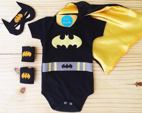 Body Batman + Superman + Mulher Maravilha Festa Mesversário