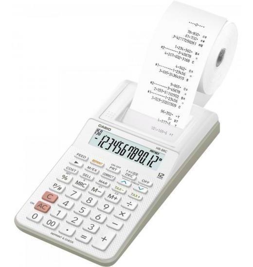 Calculadora Com Bobina 12 Dígitos Hr-8rc-we-b-dc Branca