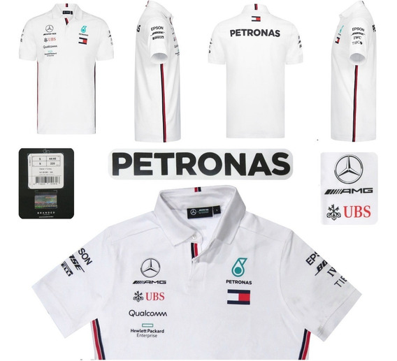 Polo Mercedes Hamilton Bottas F1 Amg Petronas Genuina 2019