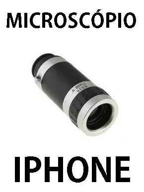 Microscópio Universal P/ iPhone 4 / 4s 8x18