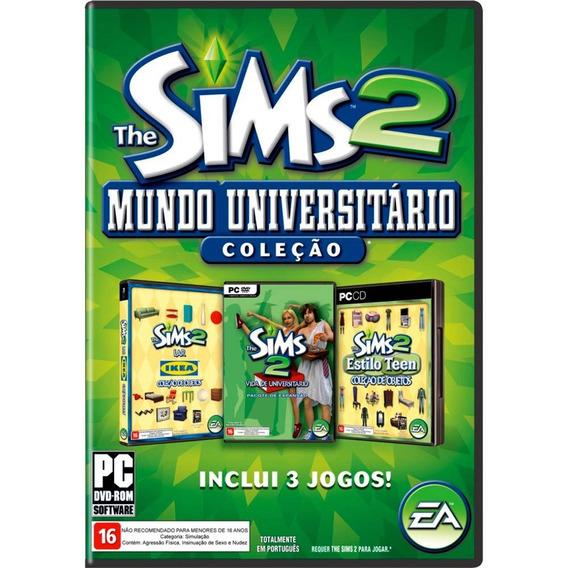 Game Pc The Sims 2 Mundo Universitário Original E Lacrado