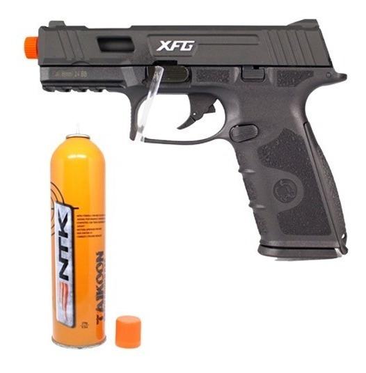 Pistola Airsoft Gbb Ics Black Leopard Preta 6mm + Taikoon