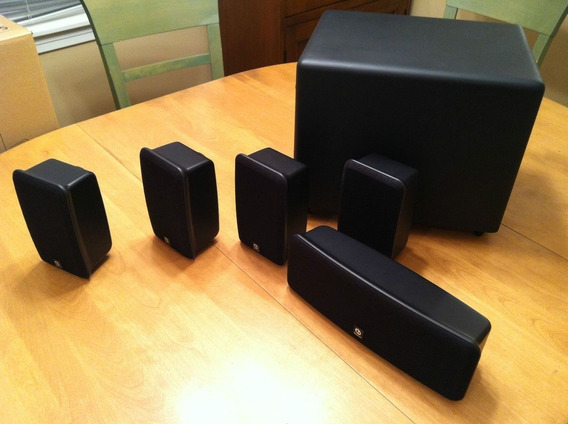 Kit Caixas 5.1 Home Theater Boston Acoustics Subwoofer Ativo