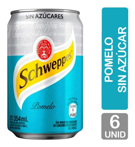 Imagen 1 de 8 de Schweppes Pomelo Sin Azucar Lata Gaseosa - Pack X6 Unidades