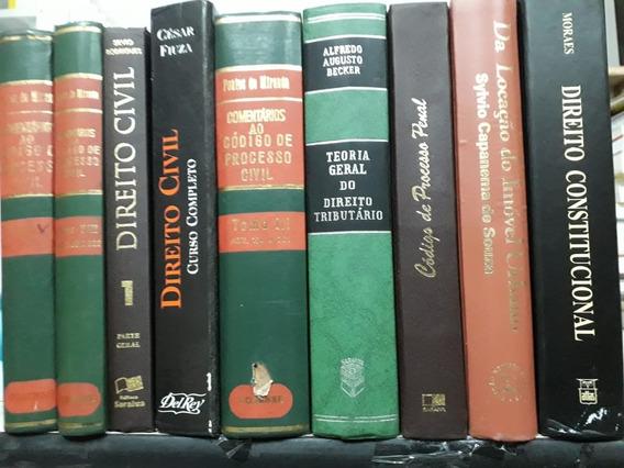 Kit 10 Livros De Direito Antigos Capa Dura Para Decoração