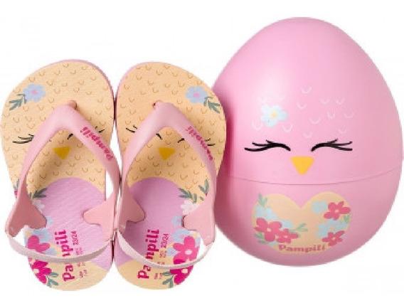 Chinelo Infantil Pampili 474.001 Mini Love Zoo Passarinha