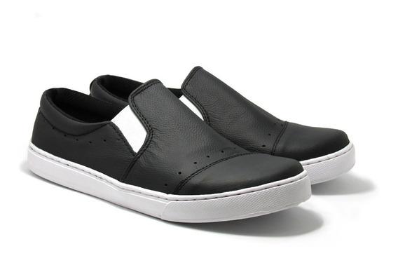 Zapatillas Panchas Fierros Hombre - Cuero Cosidas