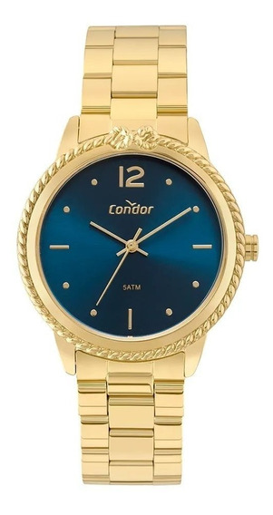 Relógio Bracelete Feminino Dourado Condor Coal2035fdqk4a