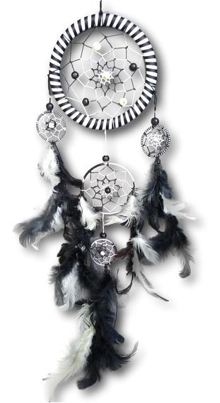 Filtro Dos Sonhos Com Penas Preto E Branco Ref: 0196