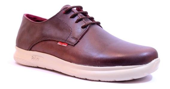 Zapatos Pizzoni 7552 Urbanos De Cuero Goma Febo Ultraliviano