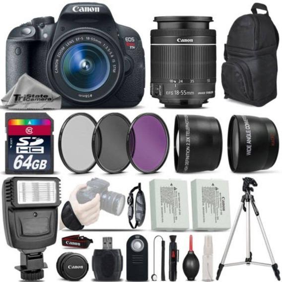 Canon Eos Rebel Tsi Dslr Camera 700d 64 Gb Kit Completo