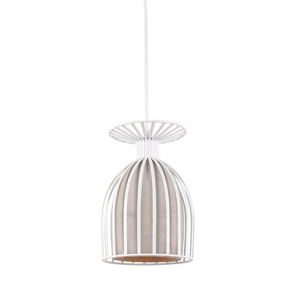 Oval - Pendente / Lustre Concreto + Metal
