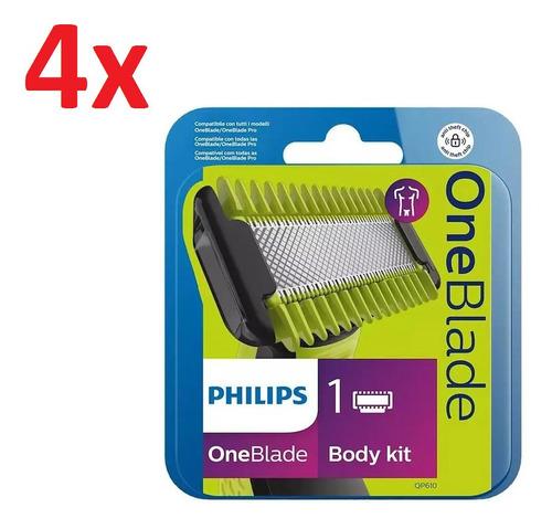 Imagen 1 de 8 de 4x Repuesto Philips Qp610 Afeitadora Oneblade