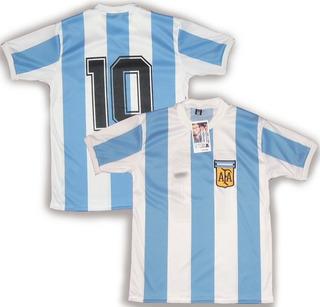Camiseta Retro Argentina 1979 #10 Maradona Campeon Sub 20