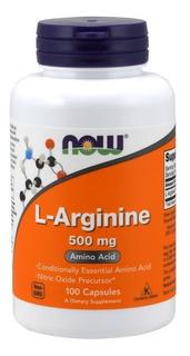 L Arginina 500 Mg Arginine - Now Fods 100 Caps [import Usa]