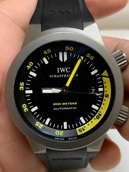 Iwc Aquatimer Titanium Caucho Impresionante Automtico Subm