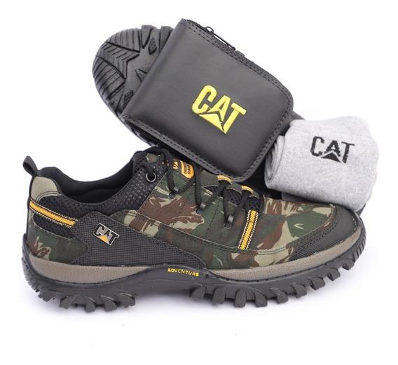 Sapato Cat Caterpillar Camuflada Original Lançamento