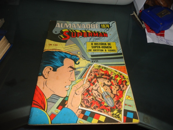 Almanaque Superman 1974 Ebal Excelente Estado!!