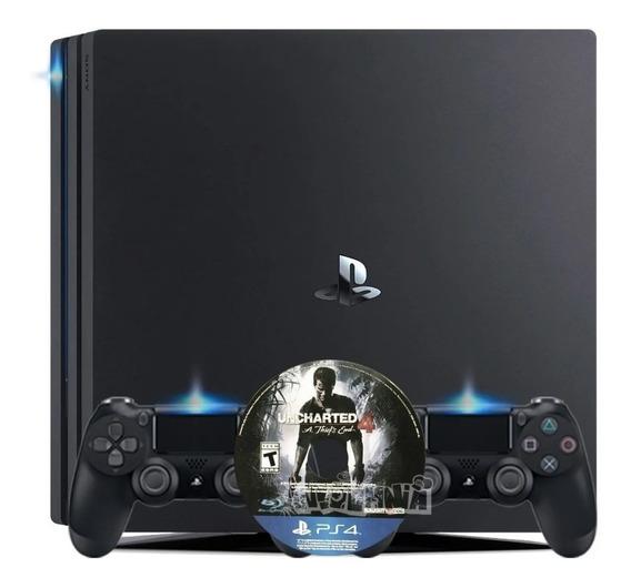 Ps4 Pro 1tb 2 Controles Jogo Uncharted 4 Original Promoçao