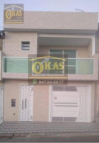 Imagem 1 de 11 de Sobrado Com 3 Dormitórios À Venda, 145 M² Por R$ 370.000,00 - Jardim Varan - Suzano/sp - So0196