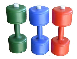 Mancuerna Plástica Recargable 2 A 12kg X Unidad Fitness Gym