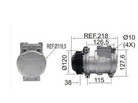 Compressor Sprinter 312  10pa17 R134a Polia 6pk