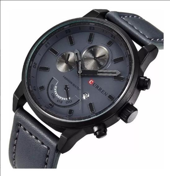 Relógio Masculino Original Barato Curren Pulseira De Couro