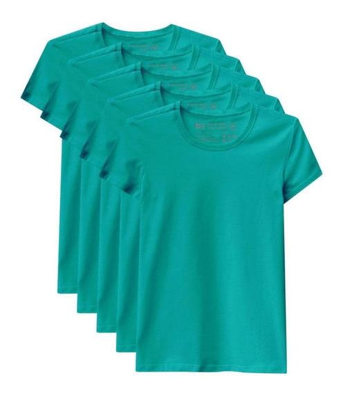 Kit De 5 Camisetas Babylook Básicas