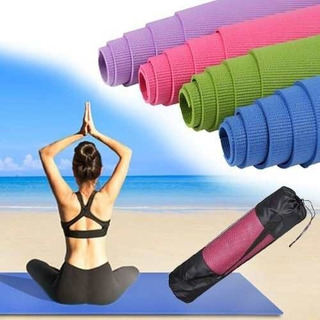 Colchoneta Mat Yoga Manta Con Bolso Deporte 4mm 173x61cm