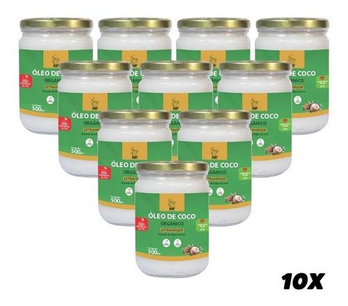 Imagem 1 de 3 de 10x Oleo De Coco 500ml Orgânico Extravirgem Hf Suplements