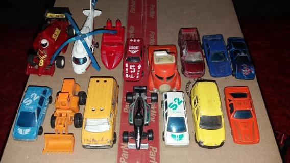 Lote 12 Autitos, 1 Helicóptero, 1 Lancha Y Un Tractor