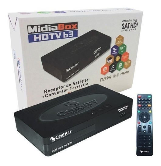 Receptor + Conversor Midiabox B3 Hd Digital Tv