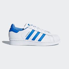 Tenis adidas Superstar Cq2699 Blanco / Azul