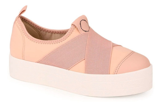 Tênis Casual Rosa Slip On Moleca Original 5618.537