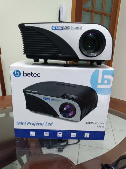 Mini Projetor Led Betec 1600 Lumens Bt830