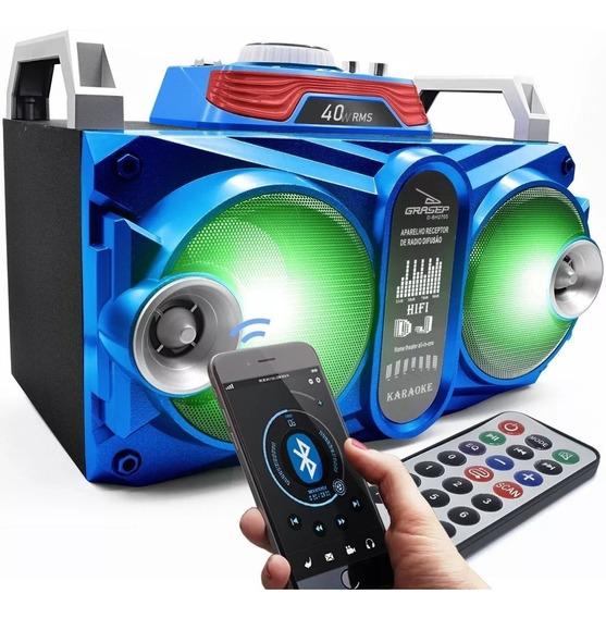 Caixa De Som Portátil Bluetooth 40w Amplificada Usb Mp3 Fm Promoção