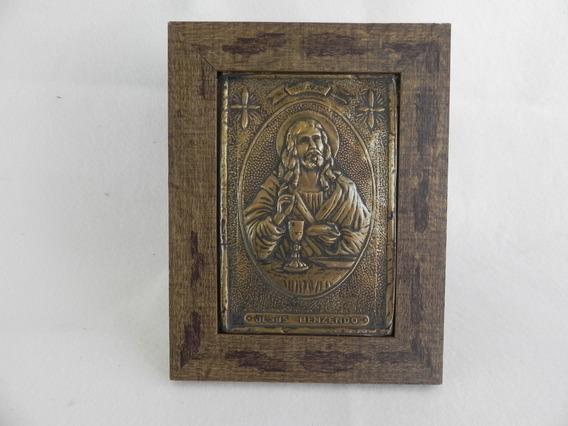 Quadro Decorativo Em Latonagem De Metal Envelhecido