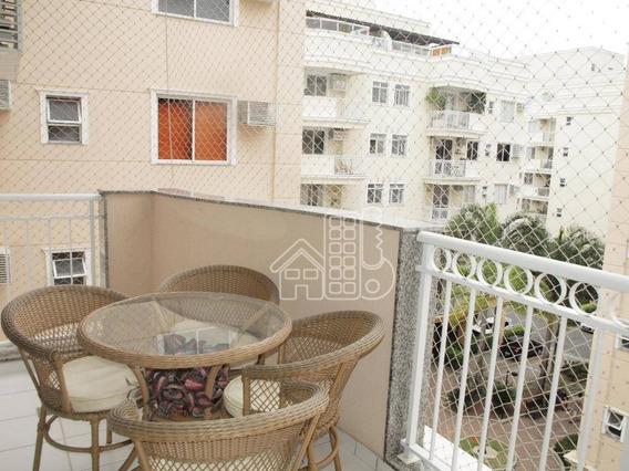 Apartamento Com 3 Dormitórios À Venda, 96 M² Por R$ 595.000 - Badu - Niterói/rj - Ap3094