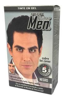 Tinte En Shampoo Loquay Primer Men Hombre Negro 85gr Lm